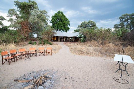 Ruaha National Park, Tanzania: Evening gathering area, and refreshment bar.