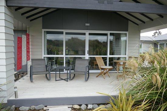 Ohakune, Nueva Zelanda: Deck off the room