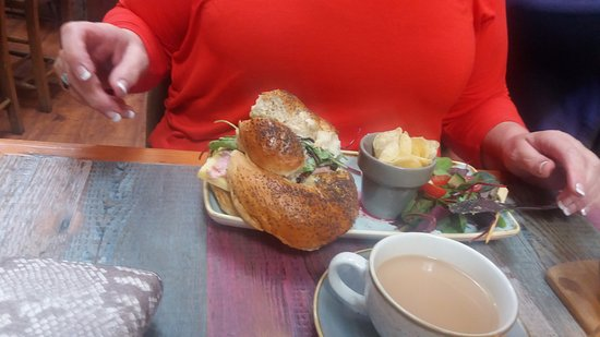 Howden, UK: ham and cheese supersandwich on seeded knot roll
