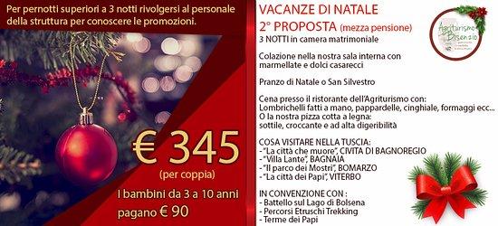 Capodimonte, إيطاليا: VACANZE DI NATALE 2°PROPOSTA