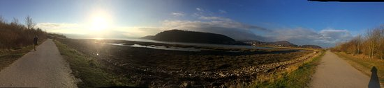 Llandudno Junction, UK: Panoramic view including the castle