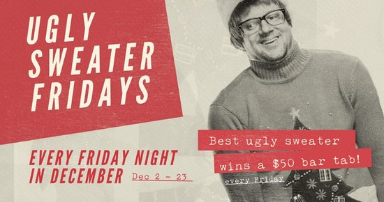 Surrey, Canadá: The JRG Ugly Sweater Party Series Is Back at JRG Public Houses