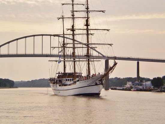 Chesapeake City, MD: International ships course through the Canal daily
