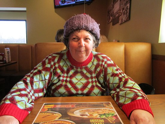 Cranston, RI: That is me waiting for my meal.