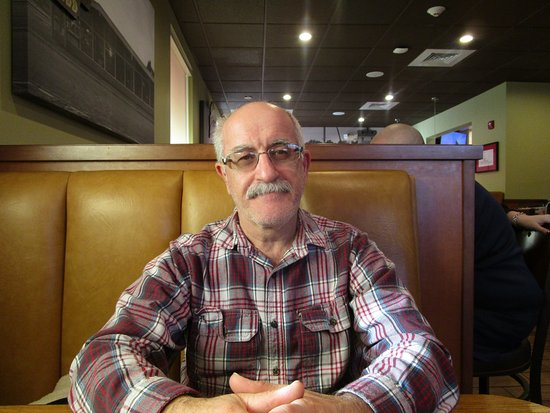 Cranston, RI: Louis waiting for his meal.
