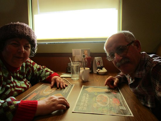 Cranston, RI: Louis and I sitting at the table.