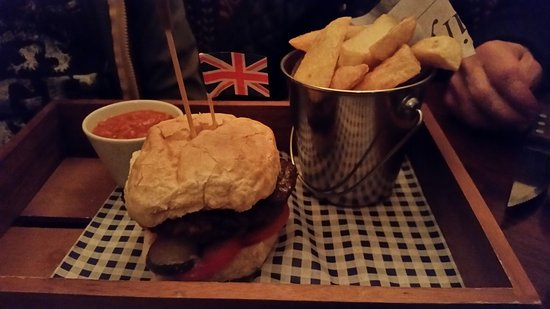 The Swan: Burger and chunky chips