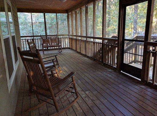Beau Suwannee River State Park: Cabin Deck