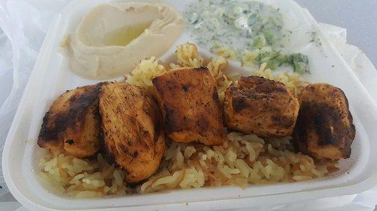 โควินา, แคลิฟอร์เนีย: Chicken Kabob Plate