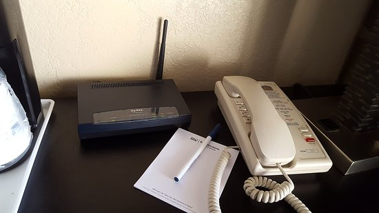 North Fort Myers, FL: Our own wi-fi router in the room.