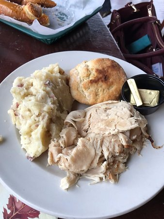 Schenectady, NY: Open face turkey sandwich with a biscuit