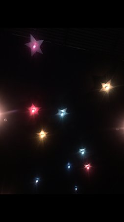 Narooma, Australia: Our beautiful star lights on the ceiling