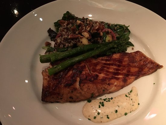 Reston, VA: Smoked and fire grilled Salmon-ordered medium. Outcome Fantastic