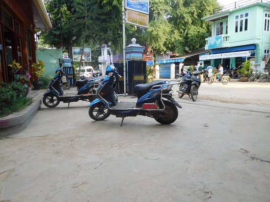 Nyaung U, Myanmar: Ebikes for rent at guesthouse