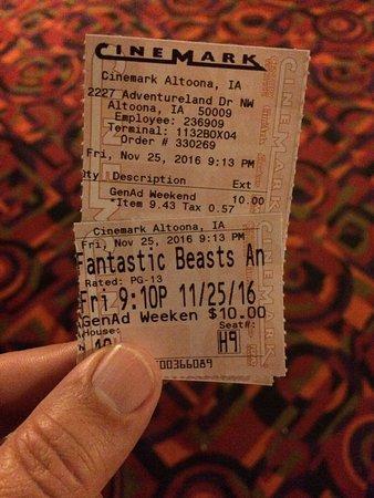 Cinemark Altoona and XD: Hary Potter Rocks!