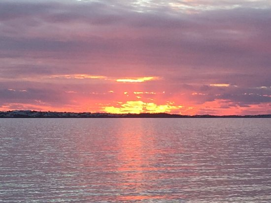 Shelly Bay Beach sunset!