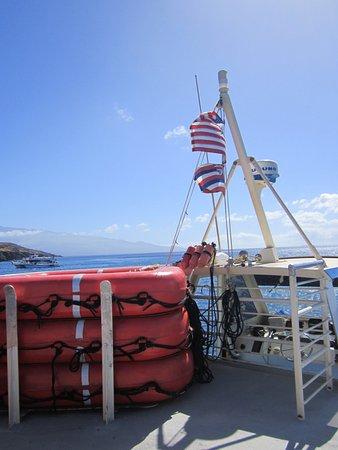 Wailuku, Hawái: Comfortable boat and ride