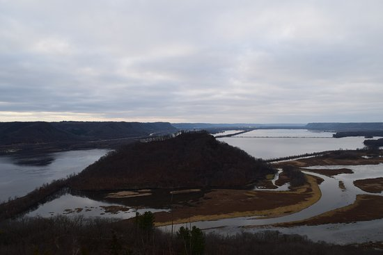 Trempealeau, WI: View from Brady's Bluff