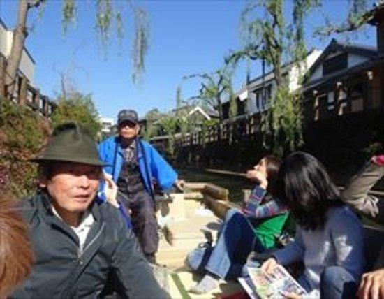 Katori, Japan: 船頭さんです。