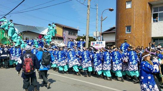 Suwa, Japan: Onbashira festival 2016