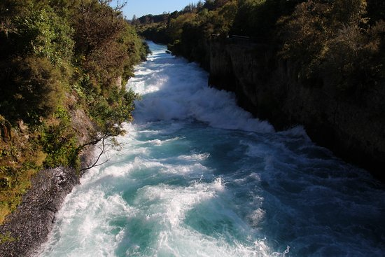 Taupo, New Zealand: Looking downstream