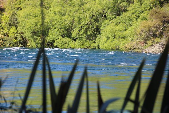 Taupo, New Zealand: Calm before the falls