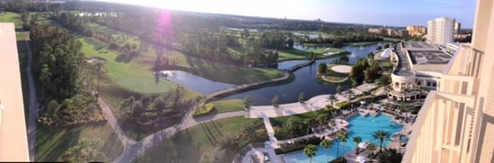 Waldorf Astoria Orlando: View from our corner suite on the 14th floor.
