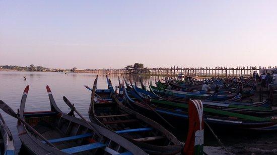 Amarapura, Myanmar: Lake + Bridge view