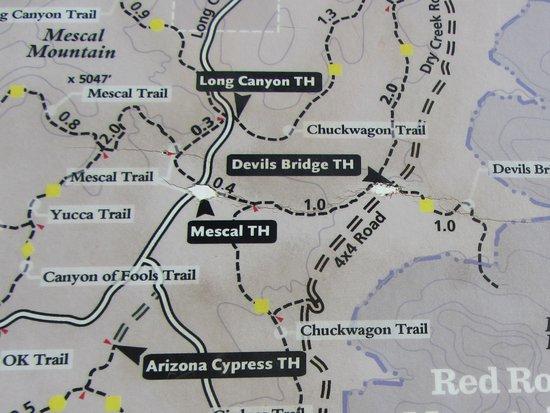 Access via Long Canyon Road Picture of Devil s Bridge Trail