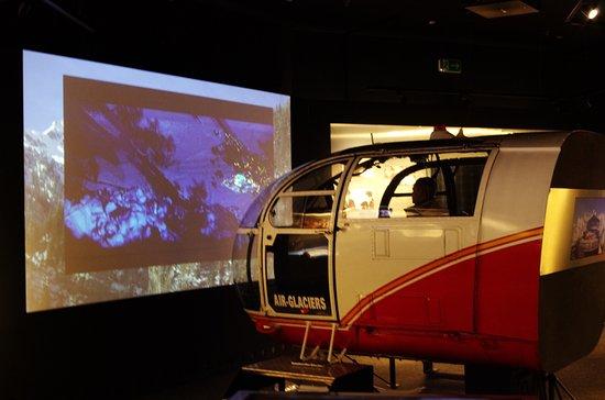 Murren, Suíça: Симулятор посадки вертолёта на Шилтхорне.