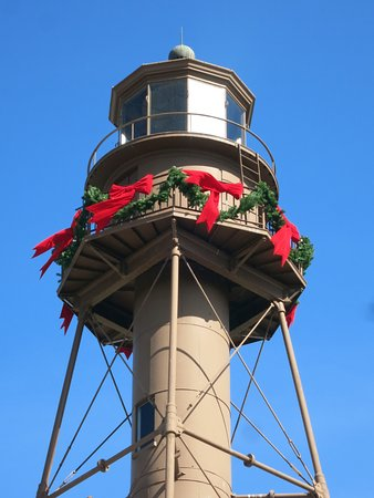 weihnachtsdekoration picture of sanibel island lighthouse