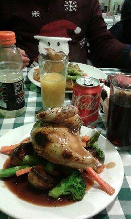 Maidenhead, UK : Roast Quarter Chicken on a Sunday leading upto Christmas. Best Roast Chicken I have ever had!