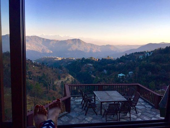 Soulitude in the Himalayas: View from our room BLISS