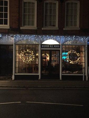 Woburn, UK: Christmas decorations look great.