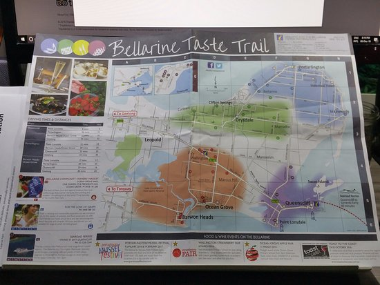 Portarlington, Australia: Bellarine Taste Trail Map