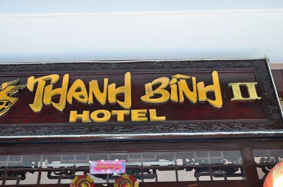 Thanh Binh II Hotel: Вывеска отеля