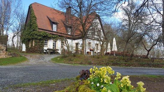 Speichersdorf, Tyskland: Wanderschutzhütte Tauritzmühle
