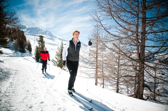 Veysonnaz, Schweiz: rando ski de fond
