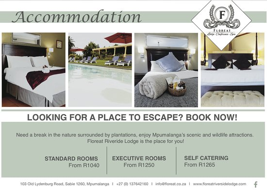 Sabie, Sydafrika: Accomidation rates 2016