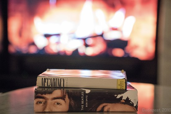 Beatles room with TV \'fireplace\' - Picture of Aria Hotel ...