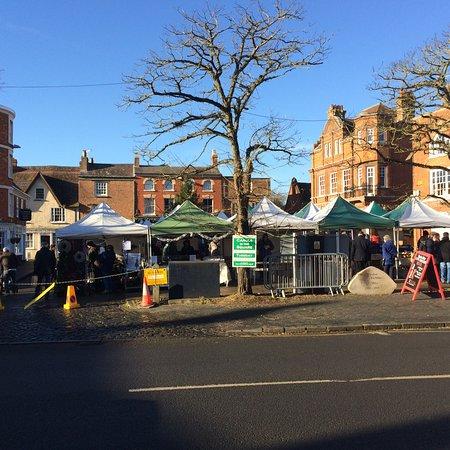 Winslow, UK: December Sunday market