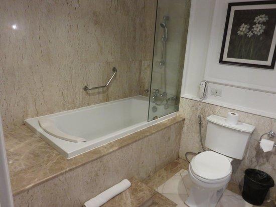 Dhavara Hotel: bathroom of room 504