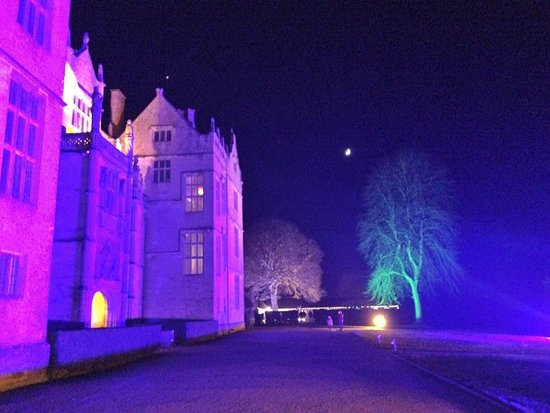 Montacute House Lit Up From Outside Lighting Picture Of