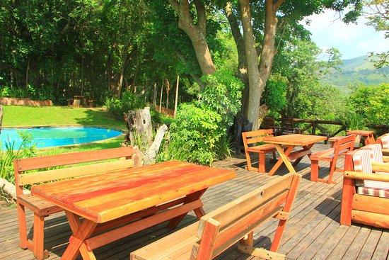 Piggs Peak, Suazilândia: terrasse restaurant