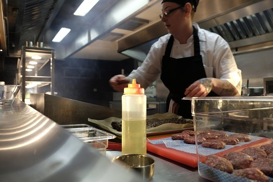 Our Sous Chef Rachel Cooking In Our Open Plan Kitchen Picture Of