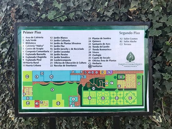 Map of garden Picture of Francisco Pelaez Ethnobotanical Garden
