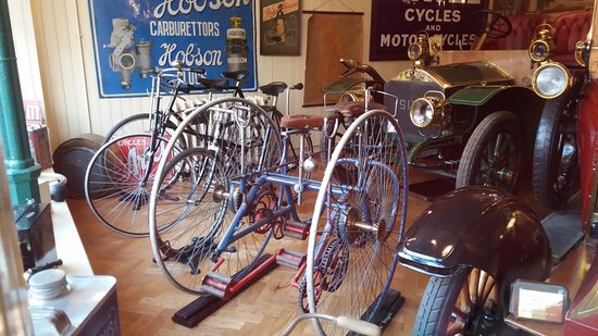 Beamish, UK: Latest forms of transport at the garage