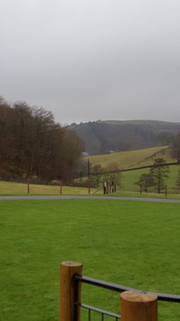 Knighton, UK: view from my cabin