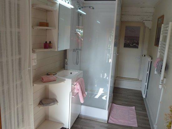 Ceaux, Fransa: Salle de bain chambre St Michel
