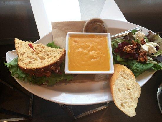 Rogers, AR: Turkey Bacon Avocado Sandwich & Butter Nut Squash